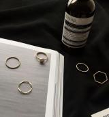 个性简约波浪不规则尾戒5件套戒指套装