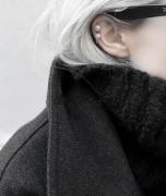 韩国精致简约耳骨珍珠耳夹耳勾耳钉女
