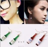 个性简约时尚啤酒瓶子创意款欧美耳环设计款耳饰