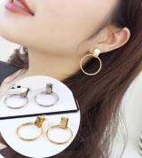 欧美饰品夸张潮款金色大圆圈耳钉耳环韩国个性气质耳饰耳坠女耳圈