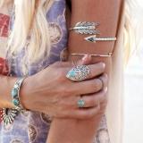 复古夸张手镯 时尚臂环 宝石丘比特箭头女式臂环手饰