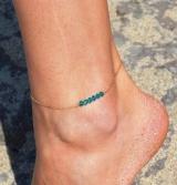 欧美  水晶脚链 简约脚饰  时尚脚链批发