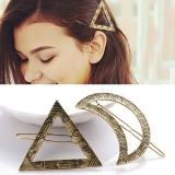 欧美几何造型时尚三角形月亮发夹 2元店货源饰品批发女 边夹发饰