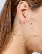 欧美夸张简约五角星星镂空金属耳环耳钉耳饰
