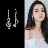 韩国几何音符音乐不对称耳环
