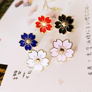 日系学院和风少女唯美樱花领针制服滴油徽章小花领针胸针衣饰