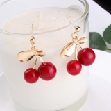 韩国可爱樱桃大小珠子水果耳钉耳环