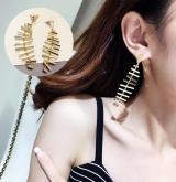 韩国个性简约鱼骨头刺创意耳环耳钉