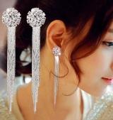 拼多多爆款 远方情 时尚气质女款 水晶流苏耳环 气质新娘耳饰
