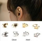 耳洞珍珠耳饰耳钉女韩国耳骨夹 耳饰爱心五角星星月亮耳夹