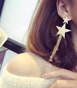 新款网红同款耳坠个性气质五角星长款流苏耳环韩国耳饰耳钉潮