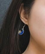 韩国星空耳环梦幻少女心月亮星星 耳环