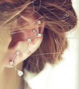 韩国时尚新潮水钻折形 耳夹 耳骨夹