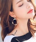 韩国新款不规则耳环耳饰品个性吊坠简约百搭耳坠欧美夸张耳钉女