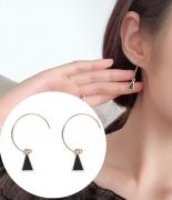 韩国简耳环约几何三角形耳钉耳坠韩国小巧个性