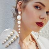 欧美个性简约 珍珠长款耳环女韩国百搭潮人大气耳坠时尚饰品