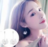 韩国ins少女心超仙丝带蝴蝶结耳环简约百搭长款耳环