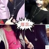 韩国百搭时尚双层毛衣链韩国长款项链女士衣服配饰装饰品吊坠挂件