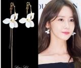 韩国时尚百搭不对称花朵耳环