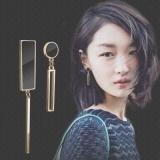韩国几何长款不对称耳环