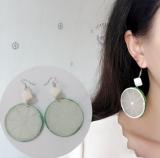 韩国可爱个性水果柠檬片亚克力耳环