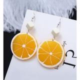 韩国个性气质橙子亚克力耳环