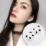 韩国黑白萌萌熊猫耳钉