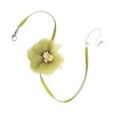 韩国淡绿色清新小仙女森林系花朵项链
