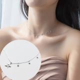 韩国星星锆石短款锁骨链