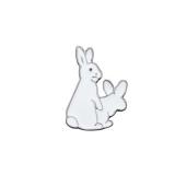 韩国个性逍遥兔子滴油胸针