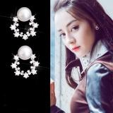 韩国微镶锆石花朵气质满钻耳钉