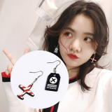 韩国百搭潮人不对称卡通飞机个性耳夹耳环