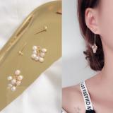 韩国气质百搭珍珠流苏简约长款耳钉