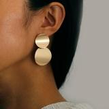 欧美时尚夸张合金光面简约耳钉