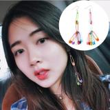 韩国复古彩色创意回形针耳环