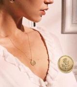 欧美跨境新款饰品单层玫瑰图案项链创意时尚毛衣链