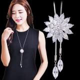 韩国水晶花朵长款项链