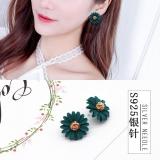 韩国百搭太阳花小花朵花瓣甜美气质耳钉