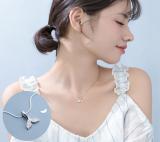 全铜品质 韩国小清新镶钻人鱼尾吊坠项链