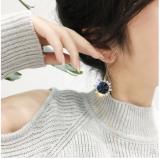 太阳花水晶耳环女高级感韩国气质长款网红耳坠耳饰耳钉2019新款潮