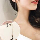 韩国东大门新款星星月亮吊坠简约项链耳钉