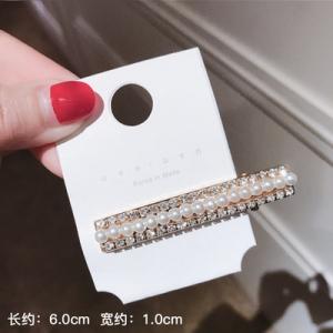 韩国珍珠满钻可爱夹发卡鸭嘴【短款】