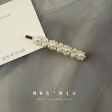 韩国ins珍珠发夹边夹少女网红同款发夹刘海发卡女2019新款