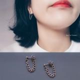 韩国简约男女戴朋克链条气质耳环