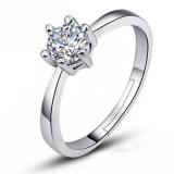 韩国时尚创意镶钻仿真钻戒爪链锆石戒指