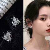 S925韩国精致闪闪的锆石满天繁星精致耳钉