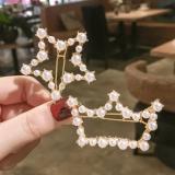韩国时尚甜美网红珍珠发夹ins少女百搭星星顶夹刘海皇冠发夹