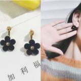 韩国泫雅风同款夏季小清新花朵耳钉