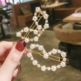 韩国简约爱心珍珠网红款甜美刘海顶夹发卡