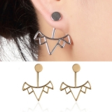 欧美光面多三角时尚女士个性设计耳钉